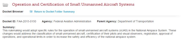 Operation and Certification of Small Unmanned Aircraft Systems