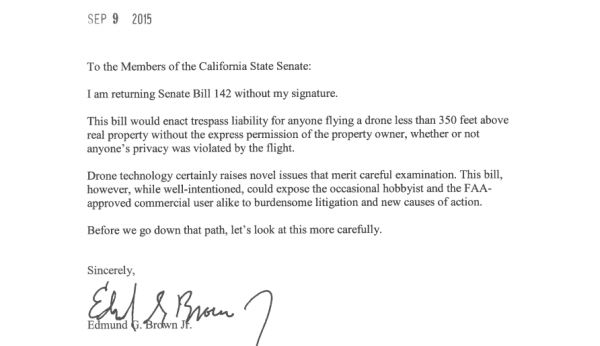 California Governor Jerry Brown veto