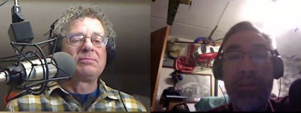 Max and David recording the episode on Blab