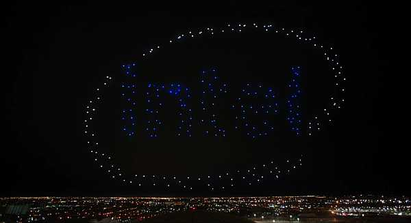 Intel drones light show