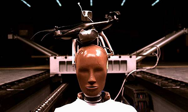 A UAS crash test dummy in a study of flying drones over people.