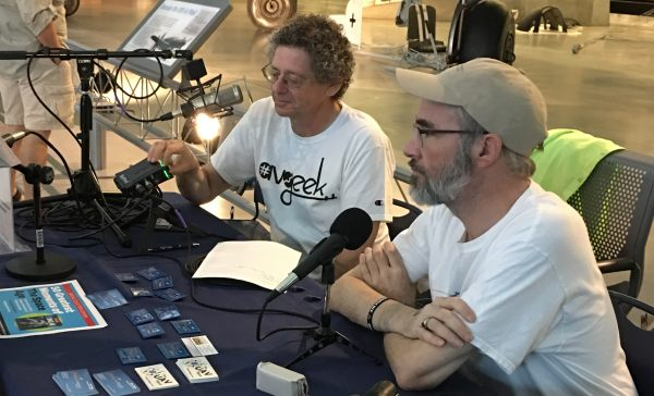 Max and David recording at the Smithsonian's National Air & Space Museum