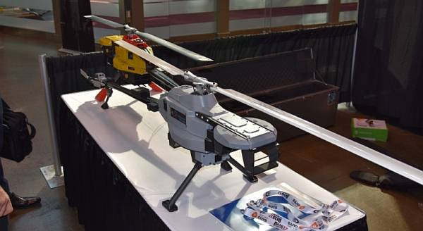 From the Big Drone Show: Procyon 800 commercial drone helicopter from NOVAerial Robotics.