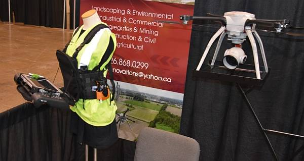 From the Big Drone Show: The Tablet-EX-Gear chest packs for drone pilots.