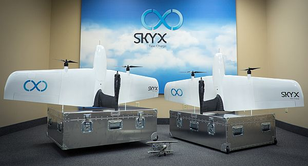 The SkyOne drone for pipeline inspection. Courtesy SkyX Systems Corporation.