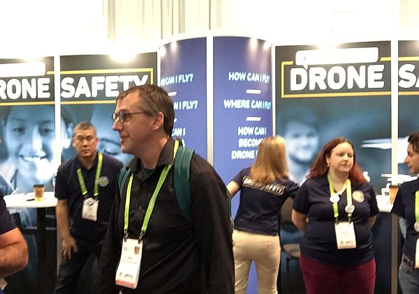 CES 2018 drone safety booth.