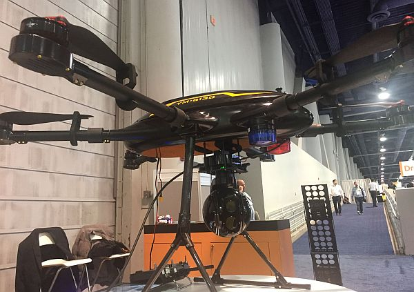 Law enforcement drone at CES 2018.